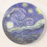 Van Gogh Starry Night, Vintage Landscape Art Drink Coaster