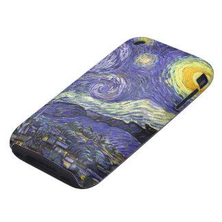 Van Gogh Starry Night, Vintage Landscape Art iPhone 3 Tough Cases