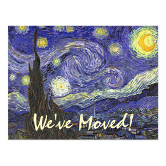 Van Gogh Starry Night, Vintage Landscape Art Post Card