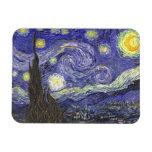 Van Gogh Starry Night, Vintage Landscape Art Rectangular Photo Magnet