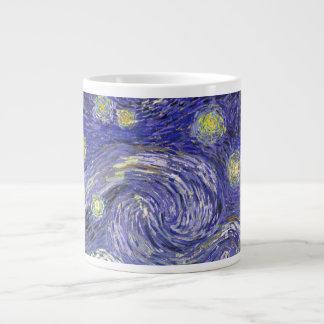 Van Gogh Starry Night, Vintage Landscape Art Jumbo Mug