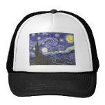 Van Gogh Starry Night, Vintage Landscape Art Trucker Hat