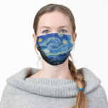 "Van Gogh Starry Night Vintage Masterpiece Cloth Face Mask<br><div class=""desc"">Vincent Van Gogh Starry night vintage masterpiece artwork face mask from Ricaso</div>"