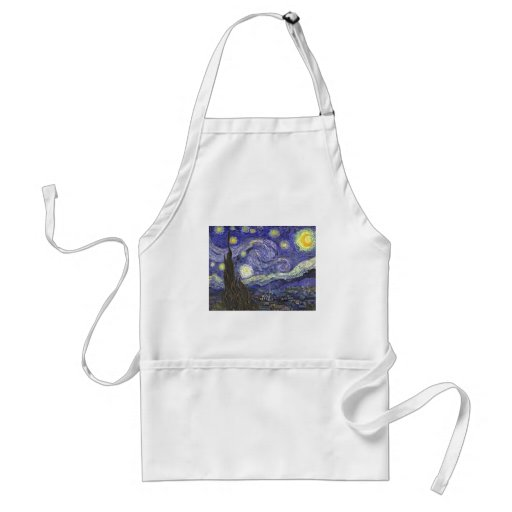 Van Gogh Starry Night, Vintage Post Impressionism Aprons