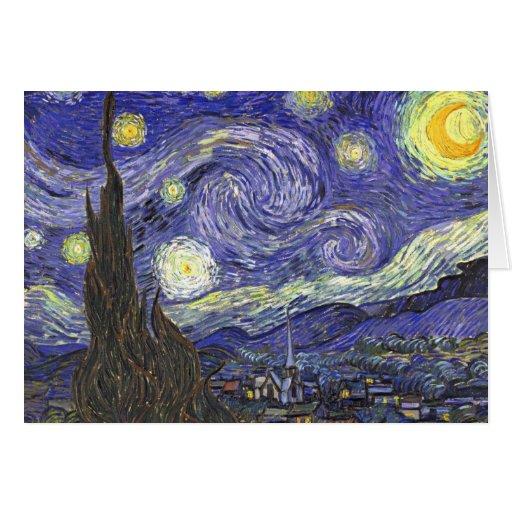 Van Gogh Starry Night, Vintage Post Impressionism Greeting Cards