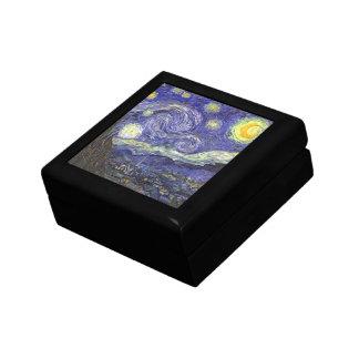 Van Gogh Starry Night, Vintage Post Impressionism Keepsake Boxes