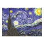 Van Gogh Starry Night, Vintage Post Impressionism Personalized Invitations