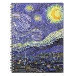 Van Gogh Starry Night, Vintage Post Impressionism Spiral Note Book