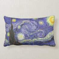 Van Gogh Starry Night, Vintage Post Impressionism Pillow