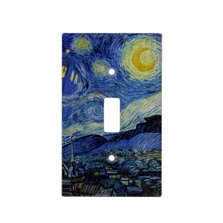 Van Gogh Starry Night with Police Box 3 Light Switch Plate