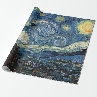 Van Gogh Starry Night Wrapping Paper