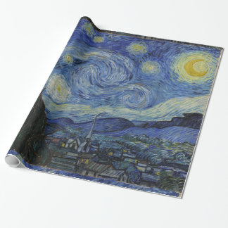 Van Gogh Starry Night Gift Wrap Paper