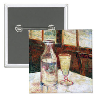 Van Gogh Still Life Absinthe  (F339) 2 Inch Square Button