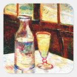 Van Gogh Still Life Absinthe  (F339) Square Stickers