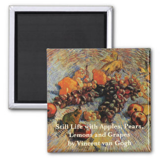 Van Gogh; Still Life Apples, Pears, Lemons, Grapes Magnet