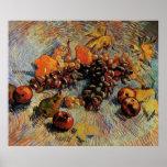 Van Gogh; Still Life Apples, Pears, Lemons, Grapes Print