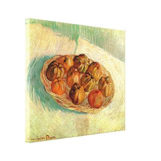 Van Gogh Still Life Basket Apples Vintage Fine Art Canvas Print
