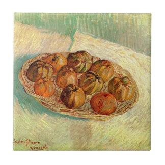 Van Gogh Still Life Basket Apples Vintage Fine Art Ceramic Tile