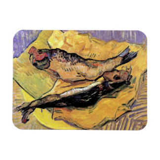 Van Gogh - Still Life Bloaters On Yellow Paper Rectangular Photo Magnet