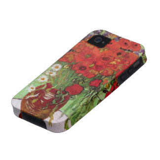 Van Gogh Still Life Flower Red Poppies and Daisies iPhone 4/4S Case