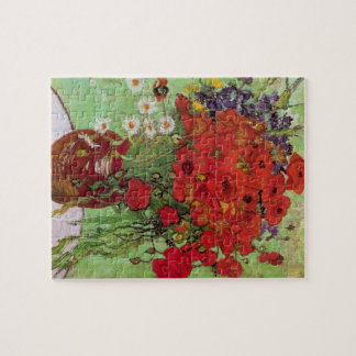 Van Gogh Still Life Flower Red Poppies and Daisies Puzzles