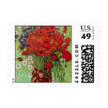 Van Gogh Still Life Flower Red Poppies and Daisies Stamps