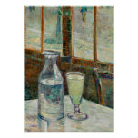 Van Gogh - Still Life Glass of Absinthe and Carafe Poster