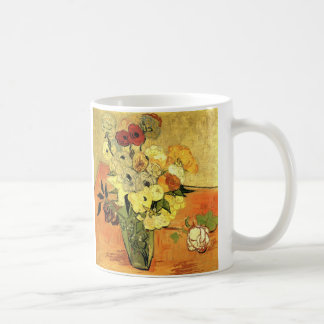 Van Gogh; Still Life Japanese Vase Roses Anemones Mug