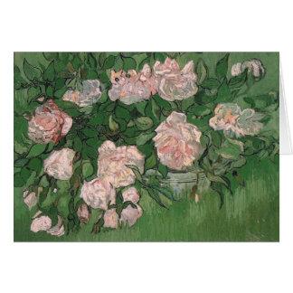 Van Gogh Still Life Pink Roses (F595) Greeting Card