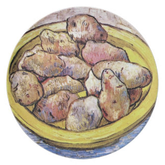 Van Gogh - Still Life Potatoes In A Yellow Dish Party Plates