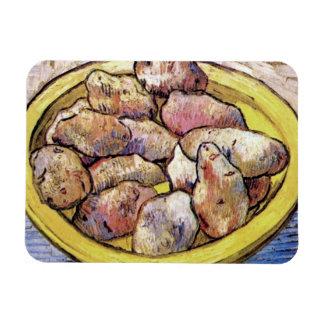 Van Gogh - Still Life Potatoes In A Yellow Dish Rectangular Photo Magnet