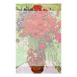 Van Gogh; Still Life: Red Poppies and Daisies Personalized Stationery