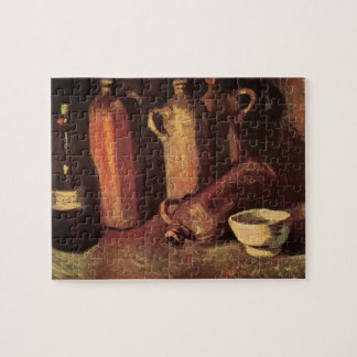 Van Gogh Still Life Stone Bottles, Flask White Cup Jigsaw Puzzle