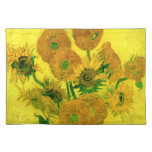 Van Gogh Still Life Vase Fifteen Sunflowers (F457) Placemats