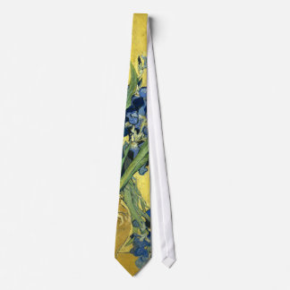 Van Gogh Still Life Vase, Irises (F678) Fine Art Neck Tie