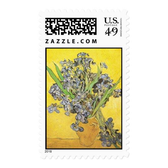 Van Gogh Still Life Vase, Irises (F678) Fine Art Postage Stamp