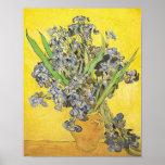 Van Gogh Still Life Vase, Irises (F678) Fine Art Print