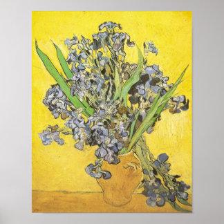 Van Gogh Still Life Vase Irises F678 Fine Art Print