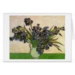Van Gogh Still Life Vase, Violet Irises (F680) Greeting Card