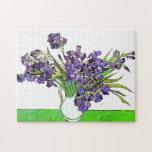 Van Gogh Still Life Vase, Violet Irises (F680) Jigsaw Puzzle