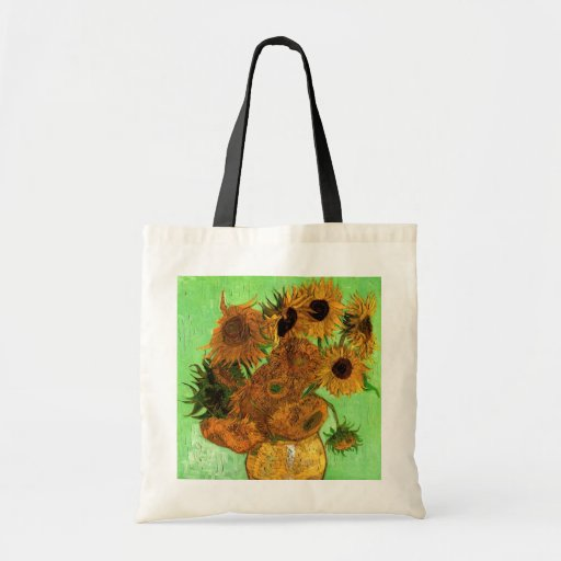 Van Gogh; Still Life: Vase with 12 Sunflowers Budget Tote Bag