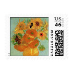 Van Gogh; Still Life: Vase with 12 Sunflowers Postage Stamps