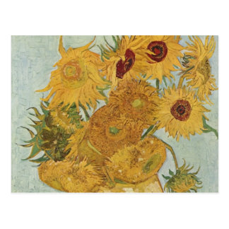 Van Gogh - Still Life: Vase with 12 Sunflowers Postcard
