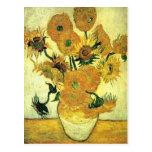 Van Gogh - Still Life Vase with 14 Sunflowers Postcard