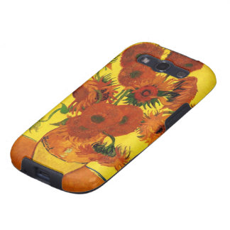 Van Gogh Still Life: Vase with 15 Sunflowers Samsung Galaxy S3 Cases