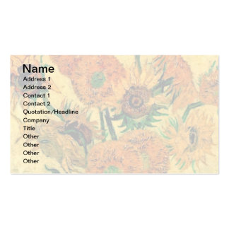Van Gogh - Still Life Vase With Fifteen Sunflowers Double-Sided Standard Business Cards (Pack Of 100)