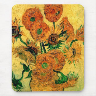 Van Gogh - Still Life Vase With Fifteen Sunflowers Mouse Pad