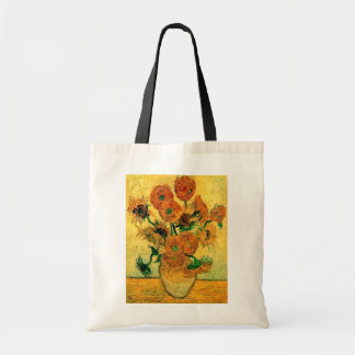 Van Gogh - Still Life Vase With Fifteen Sunflowers Tote Bag