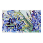Van Gogh Still Life: Vase with Irises, Vintage Art Business Card