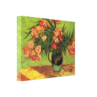Van Gogh - Still Life Vase with Oleanders and Book Canvas Print